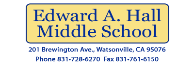 Edward A. Hall Middle School  Logo